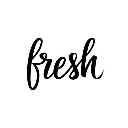 calligraphic design: Handwritten word Fresh. Calligraphic element for your design. Vector illustration.