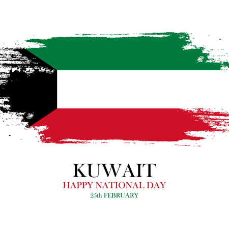 liberation: Kuwait National Day greeting card. Vector illustration.