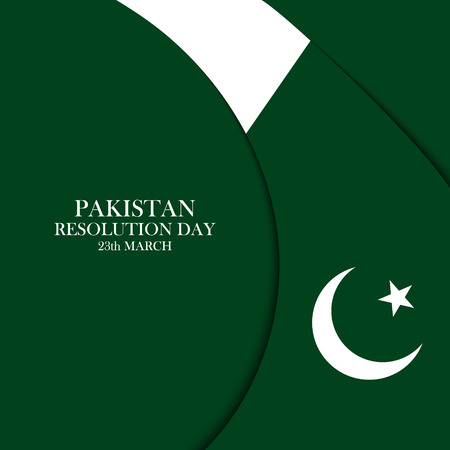 flag of pakistan: Pakistan Resolution Day 23 march celebration card. Vector illustration. Illustration