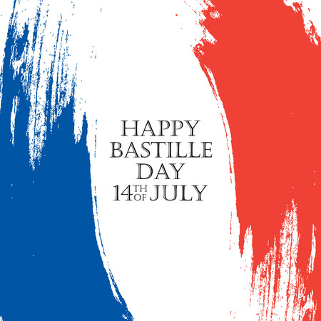 Happy bastille day greeting card 14th of july brush stroke holiday happy bastille day 14th of july holiday background with brush strokes in colors of the m4hsunfo