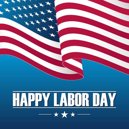 Happy labor day celebration card. Vetores