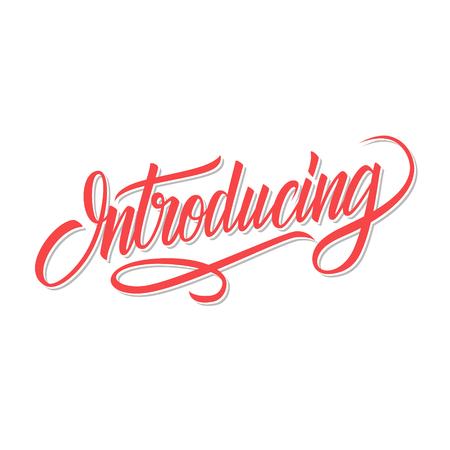 Introducción de letras caligráficas. Tipografía creativa para su diseño. Ilustración del vector.