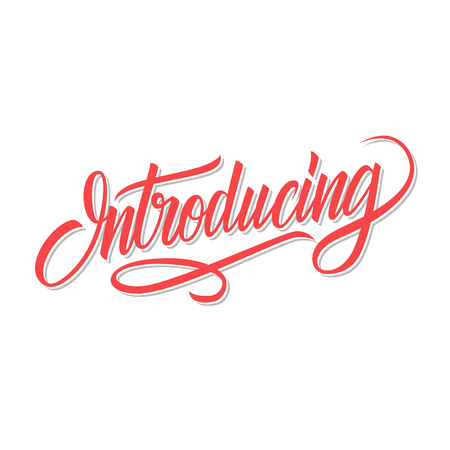 Introducing word calligraphic lettering. Creative typography for your design. Vector illustration.