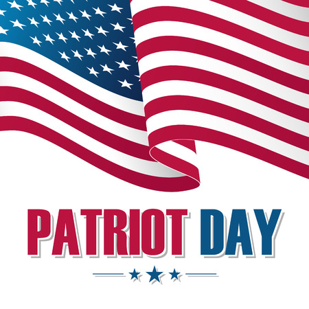 Patriot Day background with waving United States national flag. Vector illustration. Illustration