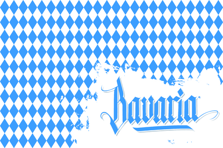 Bavaria background with hand lettering text design. Vector illustration.