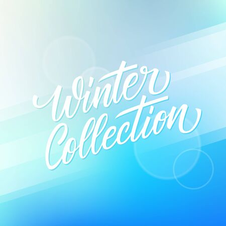 Winter Collection hand drawn lettering. Creative text design for advertising, commerce, business and fashion industry. Vector illustration. Illustration