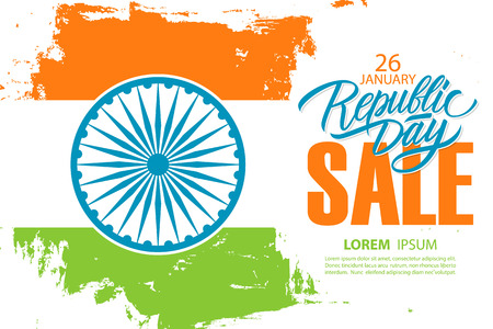 India Republic Day Sale banner. Illustration