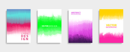 Covers design set with modern abstract color gradients patterns. Templates collection for brochures, posters, banners and cards. Vector illustration. Illustration