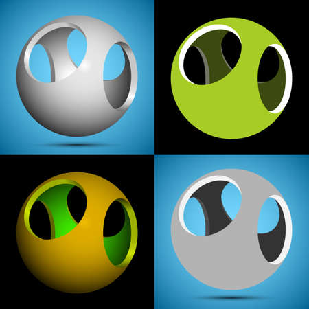 smoothed: smoothed 3D sphere with openings