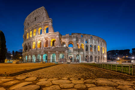 Colosseum, tourist attraction in Rome, Italy