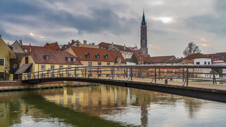 landshut: Landshut, bridge across the Isar