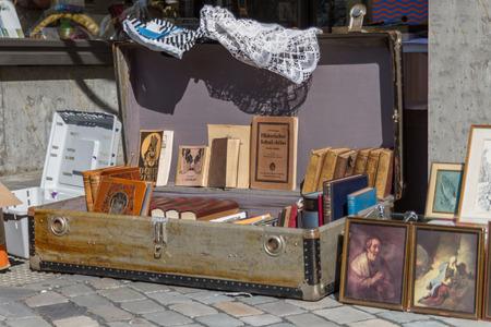 Flea market at the city of aachen