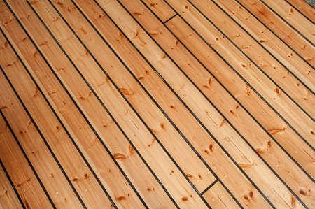 Wooden boat floor.
