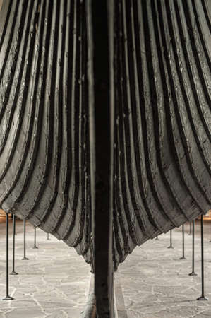 Oslo, Norway - August 10 2012: The Gokstad ship, a viking ship from the 9th-century Viking found in a burial mound at Gokstad and exhibited at Vikingskipsmuseet in Oslo. Éditoriale