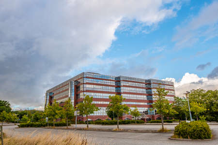 Gothenburg, Sweden - september 05 2020: Abandoned office complex and parking lot