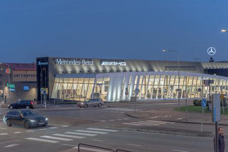 Gothenburg, Sweden - October 15 2020: Exterior of Mercedes Benz AMG dealership at Eklanda