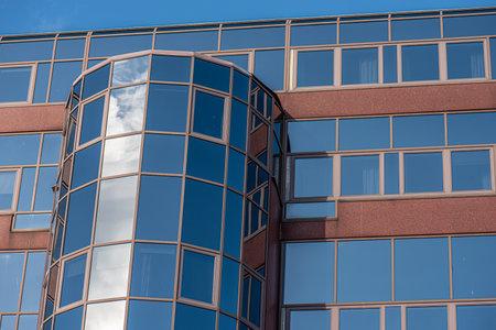 Göteborg, Sweden - september 05 2020: Glass facade of an abandoned office complex