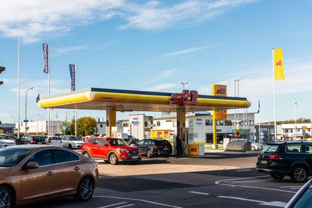Gothenburg, Sweden - October 18 2020: ST1 filling station at Sisjön