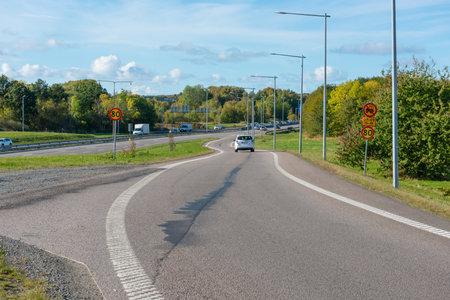 Gothenburg, Sweden - October 18 2020: On-ramp to Söderleden