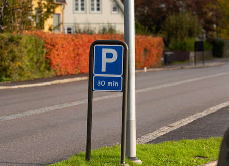 Parking sign, allowing 30 minutes of parking