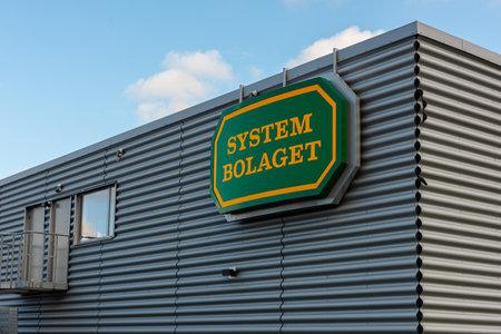 Gothenburg, Sweden - October 09 2020: Exterior of Systembolaget at Munkebäck