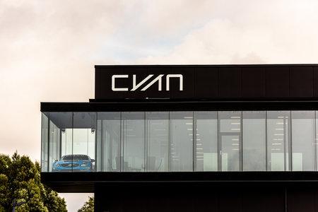 Mölndal, Sweden - October 24 2020: Headquarter of Cyan Racing