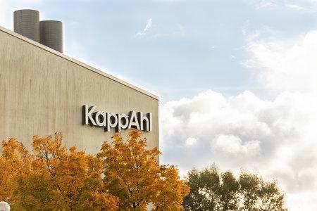 Mölndal, Sweden - October 24 2020: KappAhl sign on their headquarters in Gothenburg