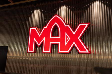 Mölndal, Sweden - October 24 2020: Logo of hamburger restaurant Max 新闻类图片