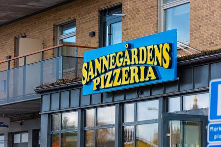 Mölndal, Sweden - October 24 2020: Sannegpårdens Pizzeria at Åby 新闻类图片