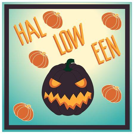 holyday: Halloween. Pumpkin. Vector illustration