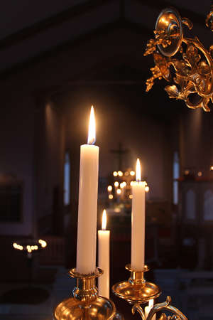 candlestick: Candles Stock Photo