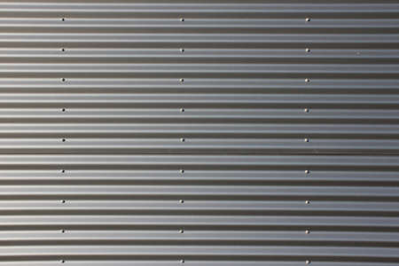 corrugated steel: Gray Corrugated Steel Plate