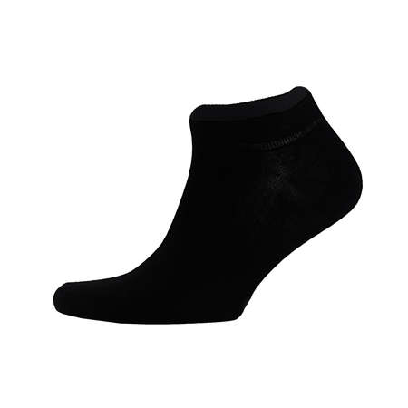 Blank black cotton sport short sock on invisible foot isolated on white background as mock up for advertising, branding, design, side view, template. Zdjęcie Seryjne