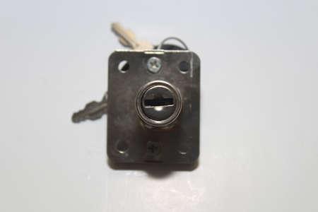 lock: cabinet lock Stock Photo