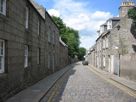 Granite street, Aberdeen Stock Photo