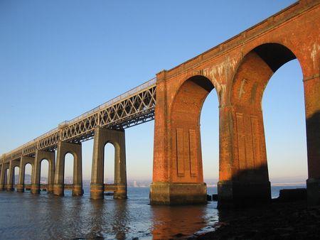 Tay Road bridge and Dundee Stock Photo
