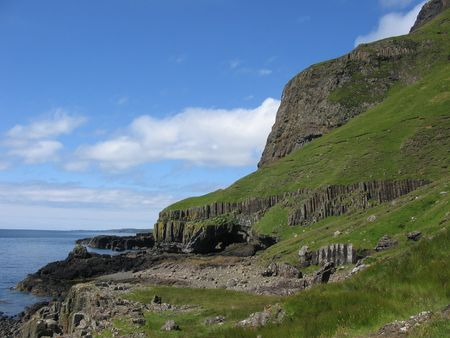 mull: Basalt Cliffs, Mull Stock Photo