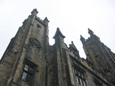 mile: Dramatic architecture near Royal mile, Edinburgh Stock Photo
