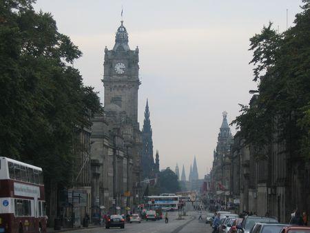 princes street: Princes Street, Edinburgh Stock Photo