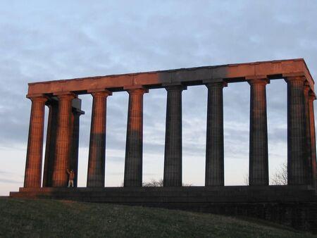 National Monument, at dusk, Edinburgh, photo