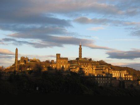 Calton Hill at dusk, Edinburgh photo