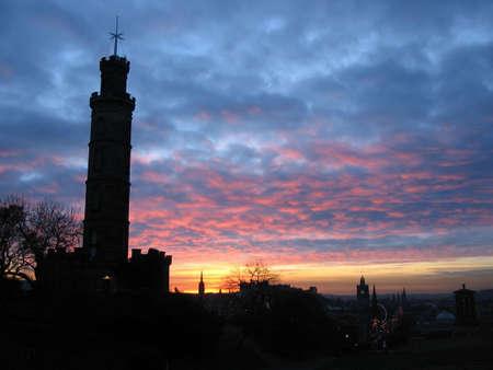 Calton Hill sunset, Edinburgh photo