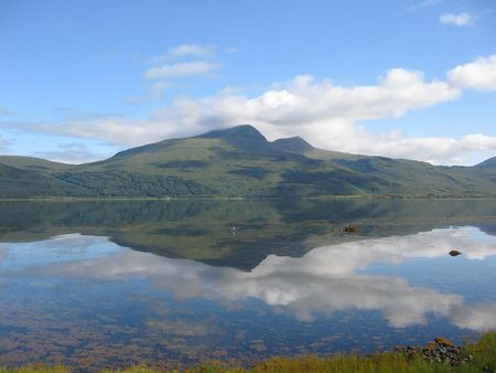 mull: Ben More reflected in Loch Scridain, Mull