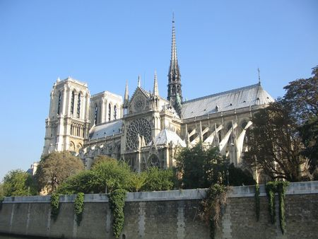notre dame: Notre Dame from the river Seine