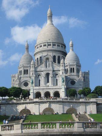 montmartre: Sacre Coeur, Montmartre, Paris Stock Photo