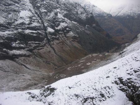 glencoe: Lost valley of Glencoe in Winter Stock Photo