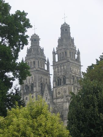 touraine: Tours cathedral, Loire Valley, France Stock Photo