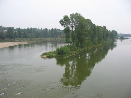 touraine: Loire River, Tours, France Stock Photo