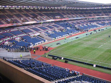 Inside a Sports stadium