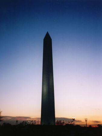 Washington Monument à la tombée de la nuit, Washington DC Banque d'images - 348949
